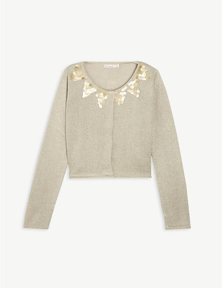 Billieblush Sequin knitted cardigan 4-12 years