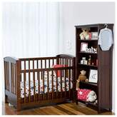 Touchwood Meadow Bar Cot with Drawer, Walnut