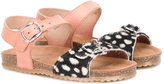 Pépé Kids - calf hair-panelled sandals - kids - Leather/rubber - 21