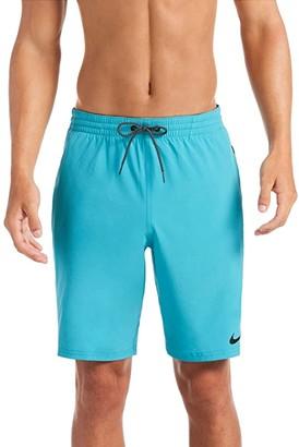 Nike 9 Logo Tape Racer Volley Shorts (Black) Men's Swimwear