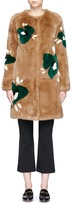 Yves Salomon Floral print Rex rabbit fur coat