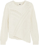 MM6 MAISON MARGIELA Asymmetric Cable-knit Cotton Sweater - Cream