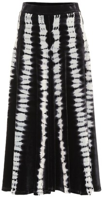 Proenza Schouler Tie-dye velvet midi skirt
