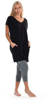 Paper Label Black Tencel Tunic