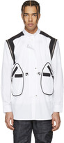 Givenchy White Shoulder Zip Shirt