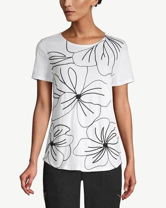 Chico's Chicos Embellished Abstract Floral Tee