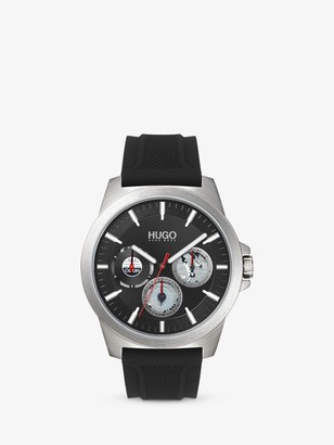 HUGO BOSS HUGO 1530129 Men's Twist Chronograph Silicone Strap Watch, Black