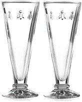 La Rochere Set of 2 Bee Design Glass Champagne Flutes