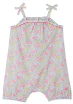 Petit Bateau Baby girls short printed coverall