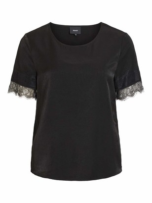 Object Women's OBJEILEEN S/S LACE TOP NOOS T-Shirt