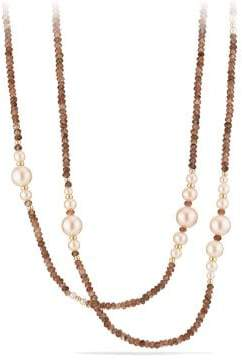 David Yurman Oceanica Tweejoux Necklace With Pink Pearls And