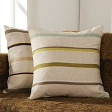 HDX Pillow Cover Set of 2 Beige Striped Polyester Decorative Pillow Cover