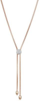 Monica Vinader 18K Rose Gold Vermeil & Diamond Fiji Button Lariat Necklace