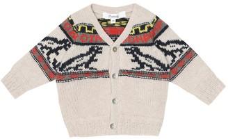 Bonpoint Baby jacquard wool cardigan