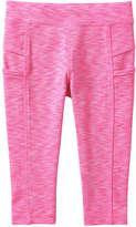 Joe Fresh Toddler Girls' Active Crop Legging, Pink (Size 4)