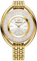 Swarovski Crystalline Oval Gold Tone Bracelet Watch