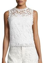 Parker Fallon Embroidered Eyelet Top