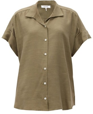 Frame Short-sleeved Fluid Shirt - Khaki