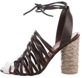 Thakoon Leather Lace-Up Sandals