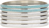 Monsoon 6x Frosted Glitter Bangles