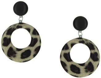 Olivia Welles Neva Leopard Print Earrings