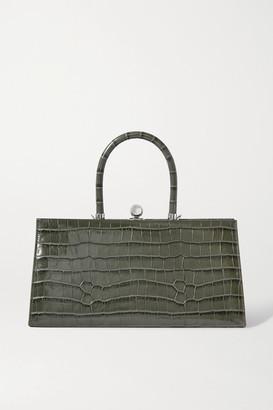 Ratio et Motus Sister Croc-effect Leather Tote - Gray
