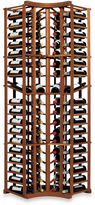 Bed Bath & Beyond Wine Enthusiast N'FINITY 4-Column Curved Corner Wine Rack Kit with Display in Walnut