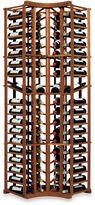 Wine Enthusiast N'FINITY 4-Column Curved Corner Wine Rack Kit with Display in Walnut