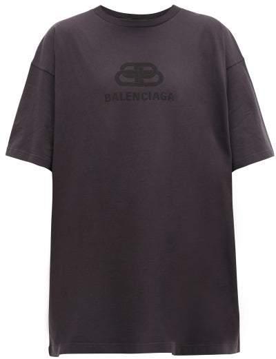 Balenciaga Bb Logo-applique Cotton T-shirt - Mens - Black