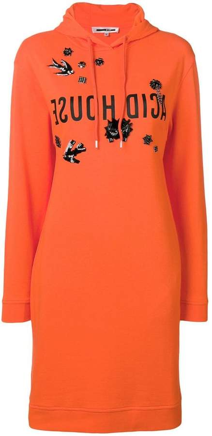 McQ embellished hoodie dress
