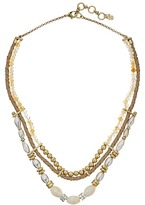 Lucky Brand Beaded Leather Collar Necklace