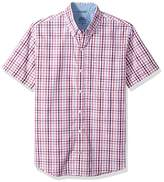 Izod Men's Short-Sleeve Saltwater Check Shirt