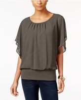 JM Collection Petite Banded-Hem Blouson Top, Only at Macy's