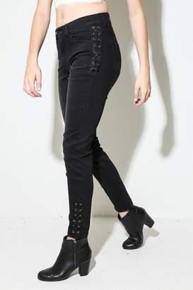 Funky Soul Criss-Cross Black Jeans