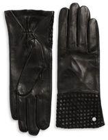 Michael Kors Basketweaved Leather Gloves