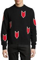 Rag & Bone Jackson Arrow Merino Wool Sweater, Black