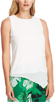 Vince Camuto Asymmetrical-Hem Double-Layer Blouse