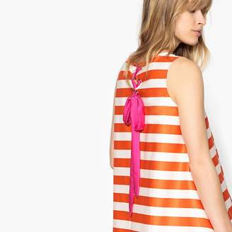 La Redoute Collections Striped A-Line Dress with Back Bow