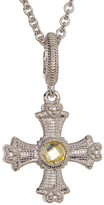Judith Ripka Sterling Silver Maltese Cross Necklace
