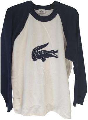 Lacoste White Cotton Knitwear & Sweatshirts