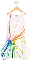 Jean Paul Gaultier Girls' Brush Stroke Draped Dress