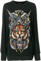 Balmain branded lion sweater - women - Spandex/Elastane/Viscose - 36