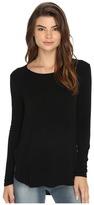 RVCA Label Long Sleeve Crew Neck Top