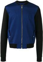 Versus lion embroidered bomber jacket - men - Cotton/Polyester/Spandex/Elastane - 50