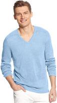 Calvin Klein Sweater, V-Neck Linen Sweater