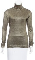 Diane von Furstenberg Long Sleeve Turtleneck Top