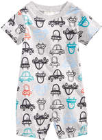 First Impressions Car-Print Cotton Romper, Baby Boys, Created for Macy's