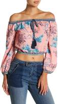 Flying Tomato Floral Cropped Blouse