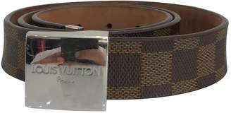 Louis Vuitton Brown Cloth Belts