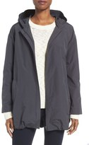 Eileen Fisher Organic Cotton & Nylon Hooded Jacket (Regular & Petite)